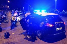 Nächtlicher Polizei-Einsatz an Playa de Palma