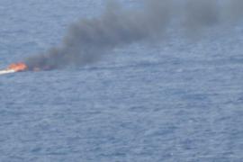 Ausflügler von brennendem Boot gerettet