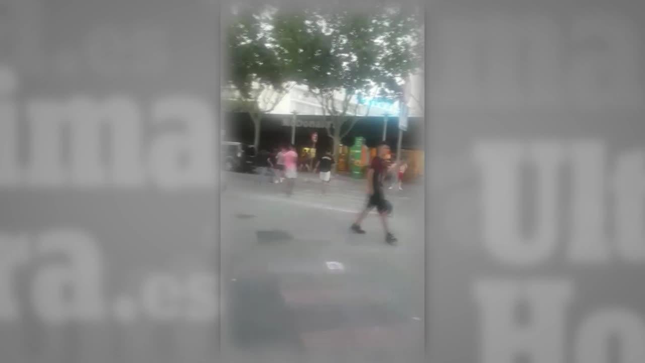 Video zeigt morgendliche Straßenschlägerei in Magaluf