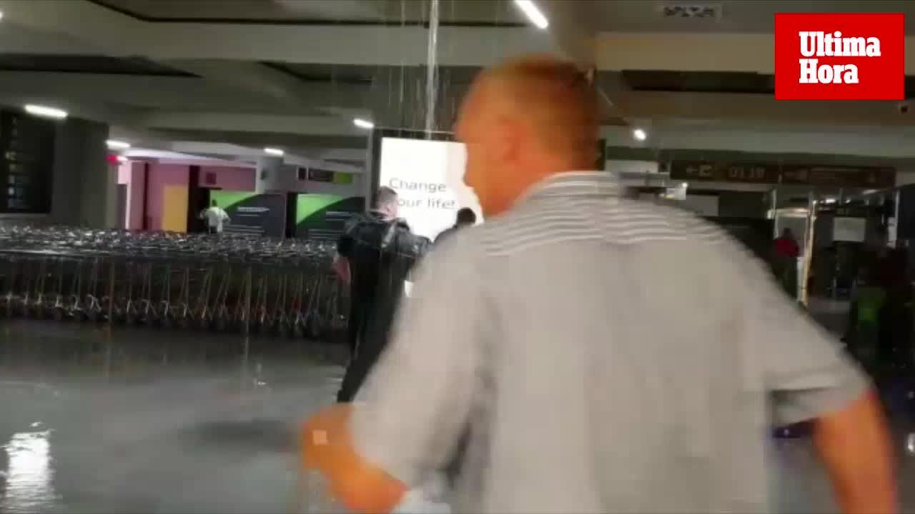 Wasserrohrbruch am Flughafen von Palma