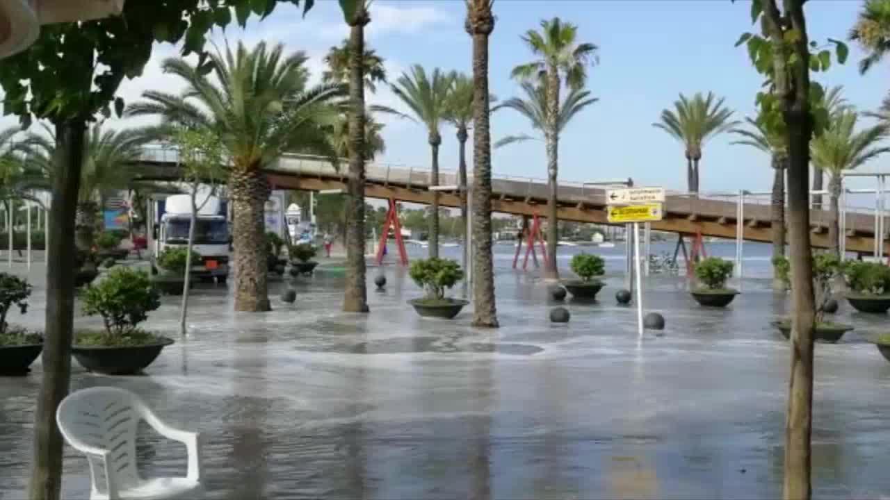 Zwei Flutwellen in Andratx und Alcúdia registriert