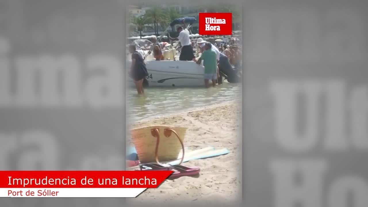 Motorboote im Badebereich verärgern in Port de Sóller