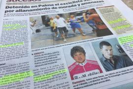 Im Innenteil widmet die spanische MM-Schwesterzeitung Ultima Hora dem Vorfall um Jan Ullrich und Til Schweiger einen ausgiebigen