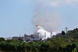 Löschflugzeug für Brand bei Es Sindicat nötig