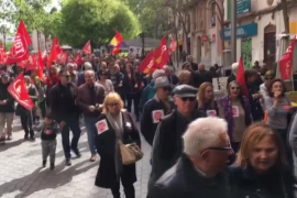Altenprotest wegen zu niedriger Renten.