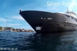 Luxusyacht zerstört vor Portocolom offenbar Seegras