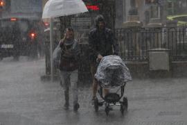 Mini-Gewitter mit 50 Litern allein in Vilafranca