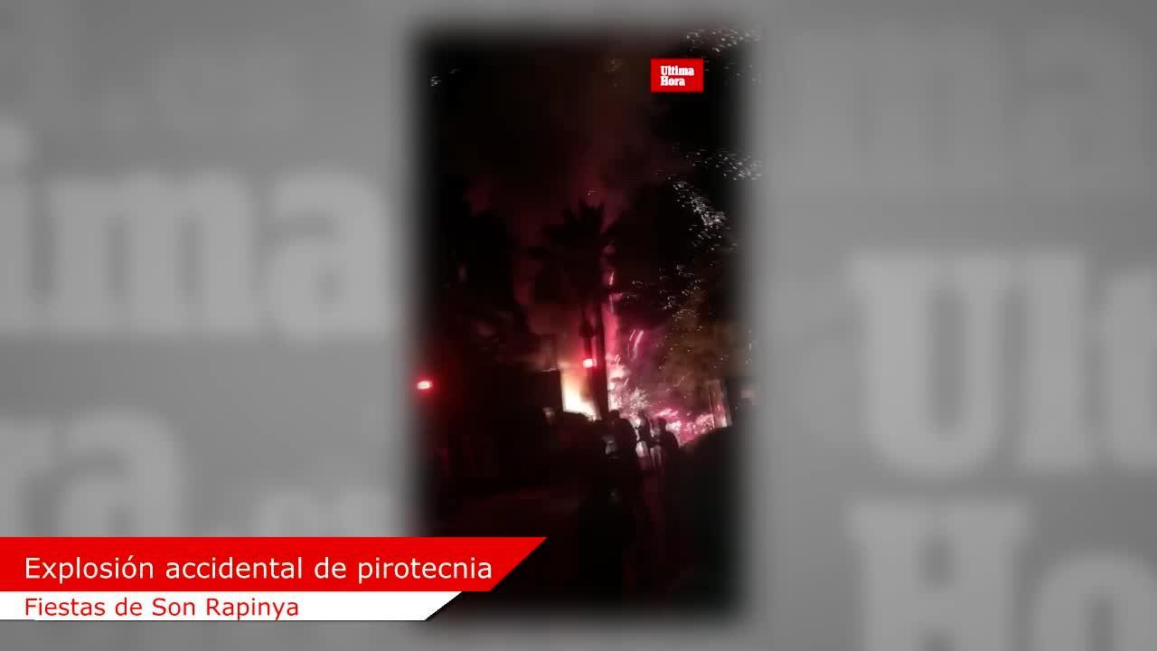 Explosionen und Rauch bei Feuerlauf in Palma