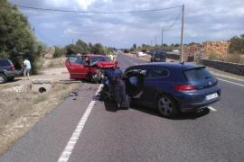 Drei Verletzte auf gerader Strecke bei Sineu