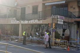 Terrassendach stürzt auf Bar in Binissalem