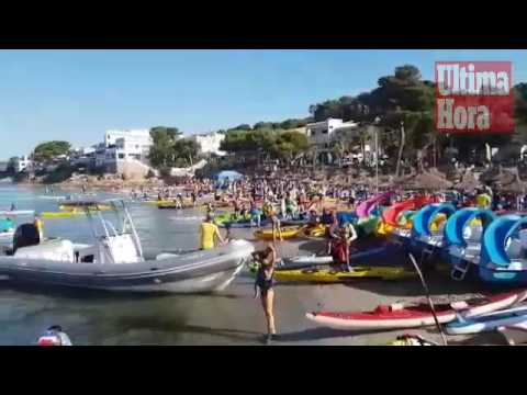 Fast 500 Kajakboote umrunden Dragonera