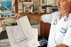 Auf der Konstruktionszeichnung ist die ursprüngliche Form des Fischerboots zu sehen.