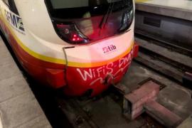 Zugunfall im Hauptbahnhof von Palma de Mallorca
