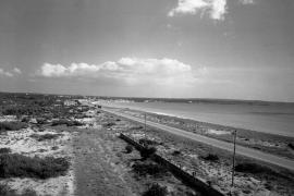 Unbebaut und jungfräulich: Die Playa de Palma in den späten 1940er Jahren.