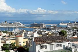 Fünf Oceanliner gleichzeitig hat Palmas Hafen schon eine Weile nicht erlebt.