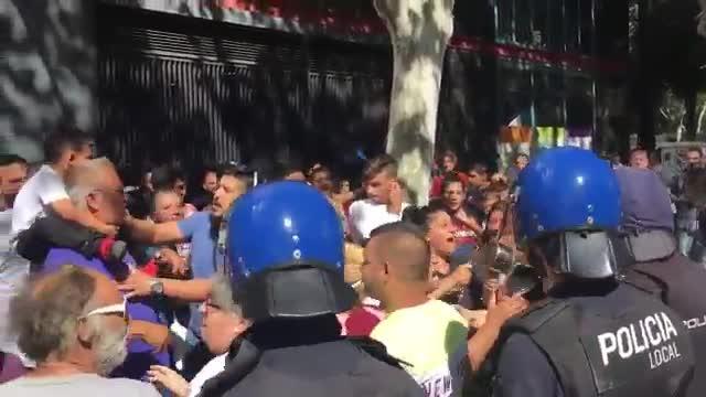 Bewohner von Son Banya demonstrieren in Palma