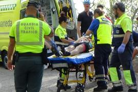 Holländischer Radfahrer bei Sturz schwer verletzt