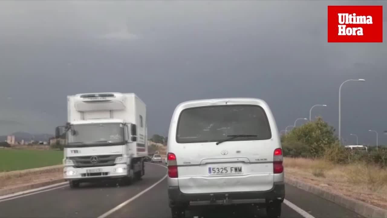 Regen brachte Verkehrschaos auf Mallorca
