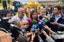 Ministerpräsidentin Armengol will, dass der Osten Mallorcas zum Katastrophengebiet erklärt wird.