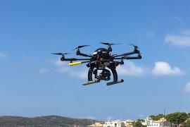Drohne im Einsatz über Mallorca.
