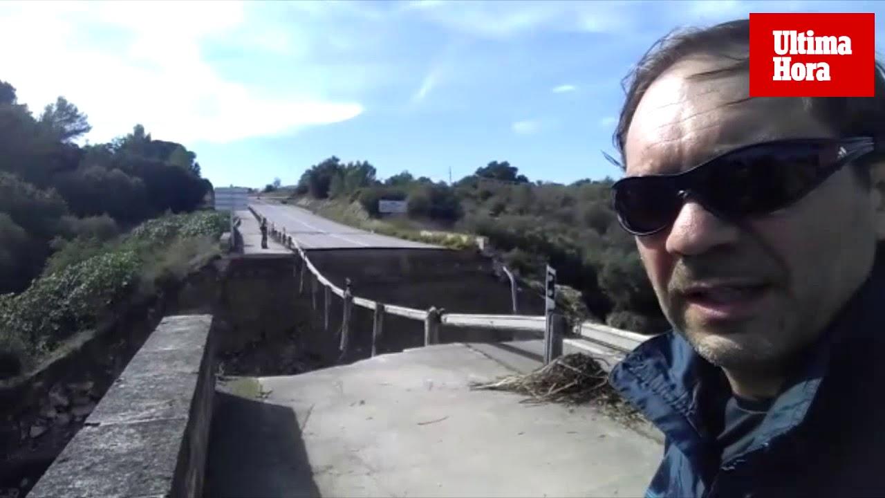 Brücke bei Artà komplett zerstört