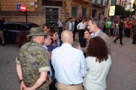 König Felipe im Katastrophengebiet auf Mallorca.