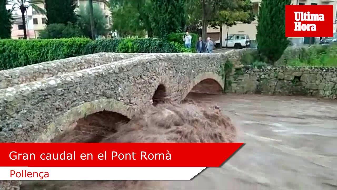 Torrent in Pollença tritt über die Ufer