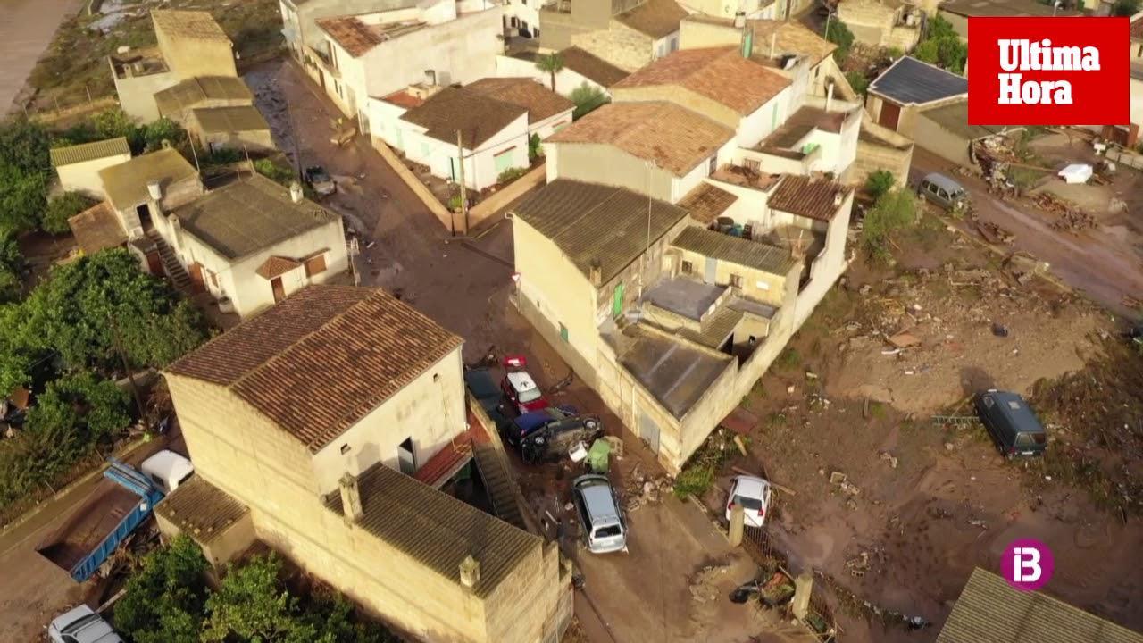 Luftaufnahmen von der Unwetterkatastrophe