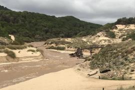 Überschwemmung an der Cala Mesquida im Nordosten Mallorcas.