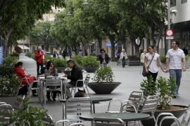 Blick auf die Blanquerna-Fußgängerzone.