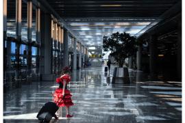 Am Flughafen drückte Javier Alomar auf den Auslöser.