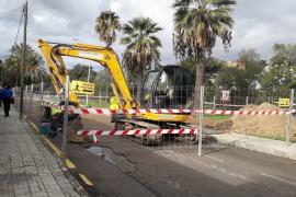 In Calvià werden Straßen en masse aufgerissen