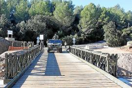 Militärbrücke in Betrieb genommen