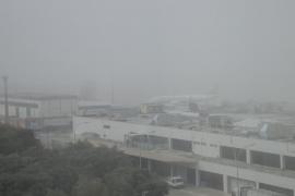 Nebel am Flughafen Son Sant Joan.