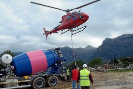 Hubschrauber-Einsatz für den Roten Blitz bei Sóller