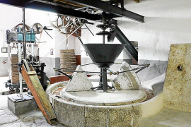 Olivenöl-Mühle in der Comassema-Possessió auf Mallorca.