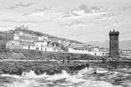 Porto Pí und die Burg Bellver, wie sie der Erzherzog sah.