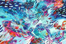 Bei ihrer Malerei lässt sich Vivian Borsani von den Farben und dem Licht Mallorcas inspirieren.