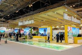 Wie auch hier beim Balearen-Stand auf der Touristikmesse Fitur in Madrid wird Mallorca auf der ITB viel Platz eingeräumt