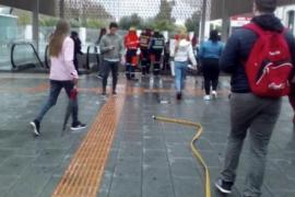 Bahnhof von Palma wegen eines Feuers evakuiert