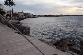 Uferweg in Cala Gamba zerfällt ungebremst