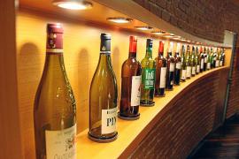 Schöne Weinflaschen.