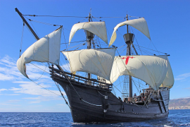Nachbau des Magellan-Schiffes legt in Palma an