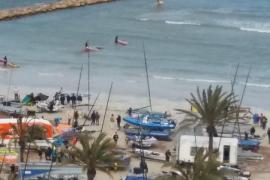 Yacht in El Arenal gestrandet