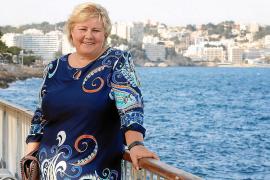Erna Solberg in Illetes.