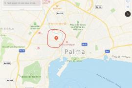 Die ehemalige Stresemannstraße befindet sich an der Plaza Madrid nordöstlich von Palmas Altstadt (siehe rote Punkt).