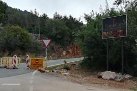Die Polizei sperrte zwei Bergstraßen bei Sóller.