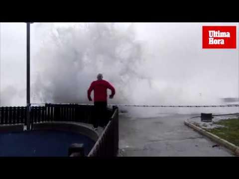 Und so wütet der Sturm in Cala Rajada