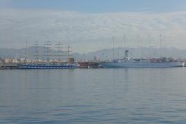 Zehn Masten im Hafen von Palma