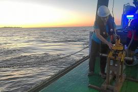 """Das Forscherteam untersucht derzeit für das Projekt """"Life Intermares"""" den Meeresboden des Kanals zwischen Mallorca und Menorca."""